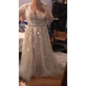 Long Sleeve Galena Signature Wedding Gown